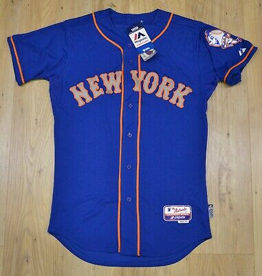 New York Mets MLB Majestic Authentic Cool Base blue RETRO jersey size 40 (M)