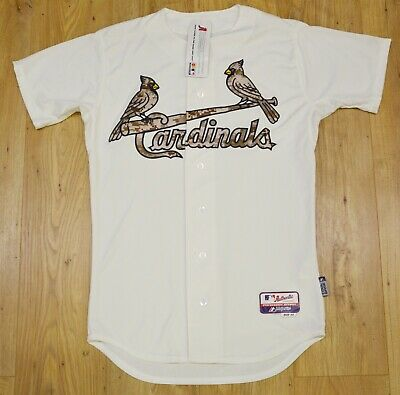 St. Louis Cardinals MLB Majestic Authentic Memorial Day USMC jersey size 40 (M)