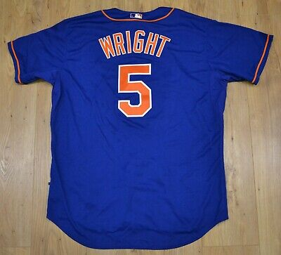 NEW David Wright New York Mets MLB Majestic Authentic blue jersey size 52 (2XL)