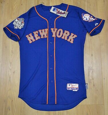 New York Mets MLB Majestic Authentic Cool Base blue WS RETRO jersey size 40 (M)