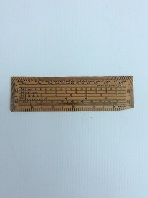 Antique Victorian Ruler Late 19Th Century Mathematical Tool Protractor/ Ruler