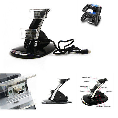 Dual LED Docking Charger Stand Station For Sony PS3/PS4 Wireless Controller fM