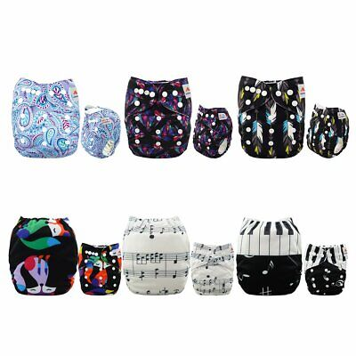 Cloth Diapers One Size Adjustable Washable Reusable for Baby Girls and Boys6Pack