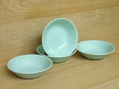 4 Vintage Woods Ware Beryl Green Bowls / Dishes – Dessert / Cereal / Fruit 1940s