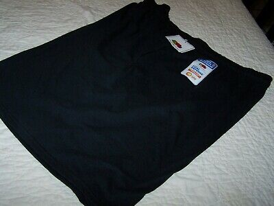 2XL~Black Knit Shorts~Loose Fit~Fruit of the Loom~NWCOT~T32