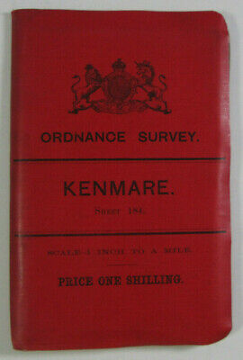 1899 Old OS Ordnance Survey Ireland One-Inch Second Edition Map 184 Kenmare