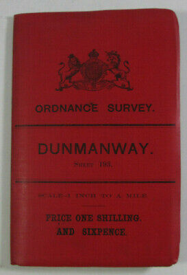 1899 Old OS Ordnance Survey Ireland One-Inch Second Edition Map 193 Dunmanway