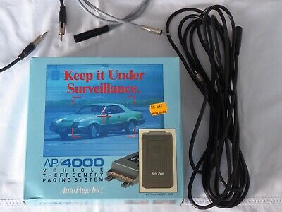 AP/4000 Auto Page Vehicle Theft Sentry Paging System / Stiller Alarm Funk