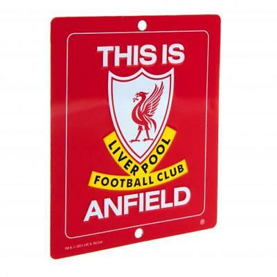 Liverpool FC This is Anfield Official Metal Logo Sign