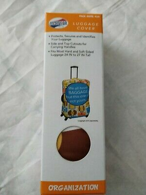 "American Tourister Luggage Cover Protects Secures Identifies 24"" To 27"" Tall NEW"