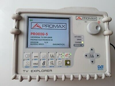 Promax Satellite Meter Prodig-5 TV Explorer Spectrum analyzer