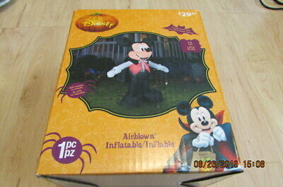 New Disney Halloween 5 Ft Vampire Mickey Mouse Airblown Inflatable FANGS
