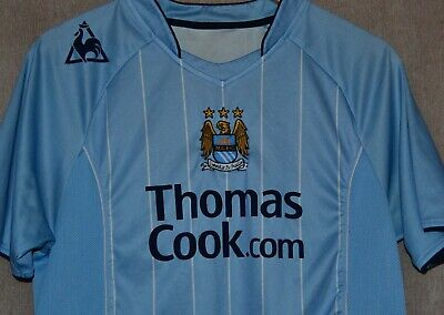 Manchester City FC 2007 2008 Home T-shirt Jersey Le Coq Sportif Camiseta Size S