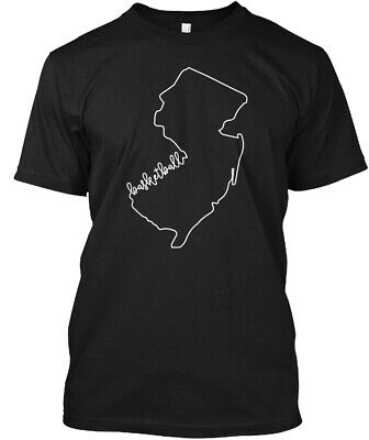 State Of New Jersey Outline With Basketb Hanes Tagless Tee T-Shirt