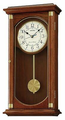 Seiko Wall Pendulum Clock Brown Wooden Case