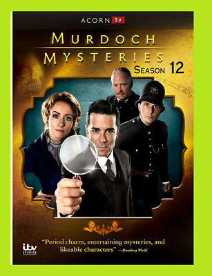 New & Sealed Murdoch Mysteries: Season 12 (DVD, 2019,5-Disc Set)