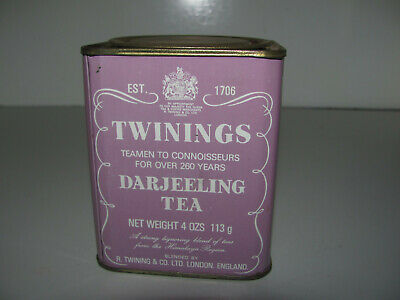 Rare Vintage Twinings Darjeeling 4oz 113g Pre Bar Code Tea Tin In Good Condition
