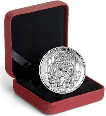 $20 1 oz. Proof 99,99 % Fine Silver Coin  – Grizzly Bear: Togetherness  (2015)