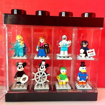 Lego 71024 Disney Series 2 Minifigures w/ Lego Display Case - 8 figures LOT 2