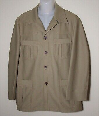 Authentic Benini  '70's Safari Suit Tailor Made Camel Long Sleeves Well Made