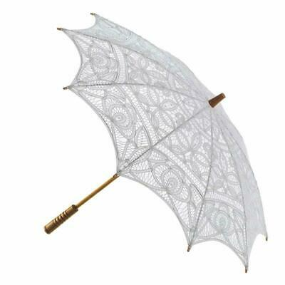 The 1 for U Parasol - Wedding Victorian Cotton Lace Sun Umbrella (Adult, Ivory)