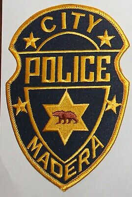 MADERA CITY POLICE California Brown Bear CA PD patch