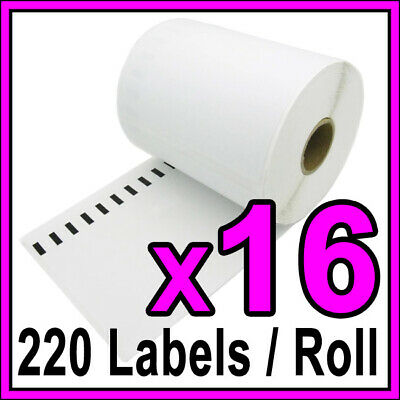 16x Dymo 0904980 4XL Extra Large Shipping Labels 104mm x 159mm SD0904980 Thermal