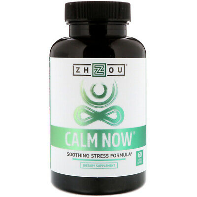 Calm Now, Soothing Stress Formula, 60 Veggie Capsules - Zhou Nutrition