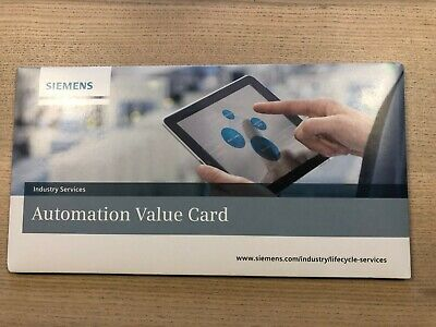 Siemens Automation Value Card 1000 credits SEALED