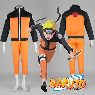 Halloween Cosplay Naruto Shippuden Uzumaki Hokage Costume Suit Jacket and Pants