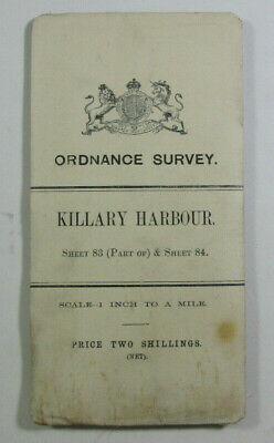 1899 Old OS Ordnance Survey Ireland One-Inch Second Ed Map 84 Killary Harbour