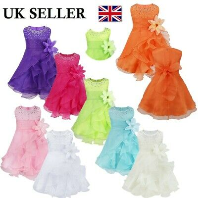 UK Infant Baby Wedding Flower Girl Dress Children Pageant Party Princess Dresses