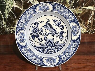 Pyramid Blue Delft Gouda Holland - Beautiful Wall Plate with Pheasant Ø 22,5cm
