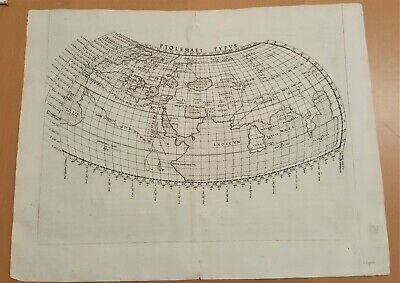 Antique Map - Ptolemaei Typus - Ruscelli 1564 Very Good Condition