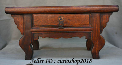 """16.8"""" Old Chinese Huanghuali Wood Dynasty Drawer Table Desk antique furniture"""