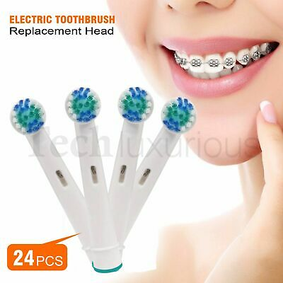 24 Pcs Electric Toothbrush Replacement Heads Compatible With Oral B Braun Models