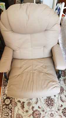 Valco Baby Seville glider with foot rest - cream colour