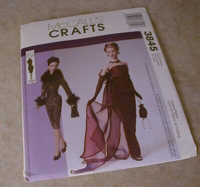 "Reduced! McCALL/'S 3845 OOP 15½"" Fashion Doll FASHION DESIGNER PATTERN"