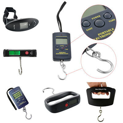 Portable Travel 40kg/50kg LCD Digital Hanging Luggage Scale Electronic Weight GE