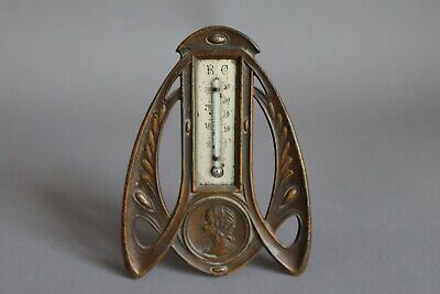 Antikes R C Stand Thermometer Metall H 14 cm