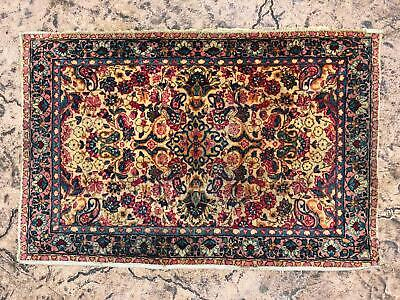 Antique Vintage Hand Woven 2x3 Small Persian Rug