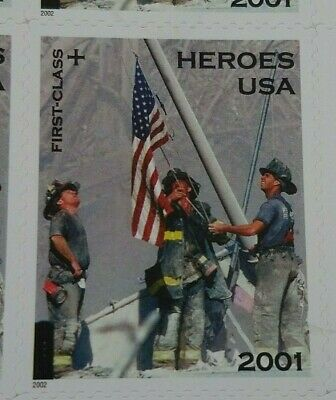 9/11 HEROES America Responds Mint Stamp Sheet USA 2001 NY Firefighters