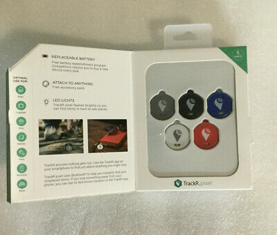 TrackR pixel Bluetooth Tracking Device B  5 Pack TRACK YOUR PHONE KEY MORE