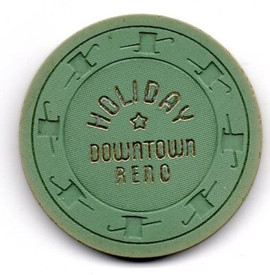 Holiday Roulette Casino Chip Reno NV TCR# N8579.gn Hat & Cane Mold