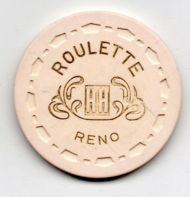Holiday Roulette HH Casino Chip Reno NV TCR# V2785.wh Small Crown Mold
