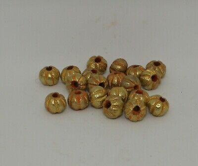 20 X Post Medieval Gold Beads - 021