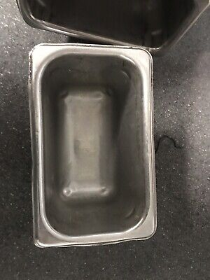 """Set of 12Used  Stainless Steel 7"""" x 4.25"""" x 4"""" Insert Steam Table Food Pans"""