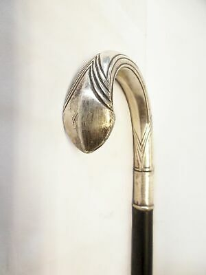 Spazierstock mit 800 Silber Griff/antique walking stick with solid silver handle