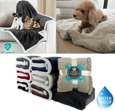 Waterproof Warm Soft Fleece Pet Blanket Small Cat Dog Kennel Bed Mat Pad Cushion