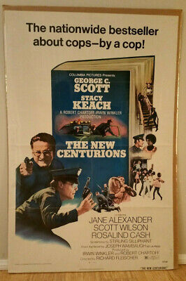 THE NEW CENTURIONS 1972 Original 1 sheet 27x41 George C. Scott